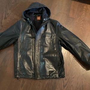 Hugo Boss Men's leather Fall jacket